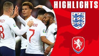 England 5-0 Czech Republic | Sterling Nets Hat-Trick in Dream Start | Euro 2020 Qualifiers | England