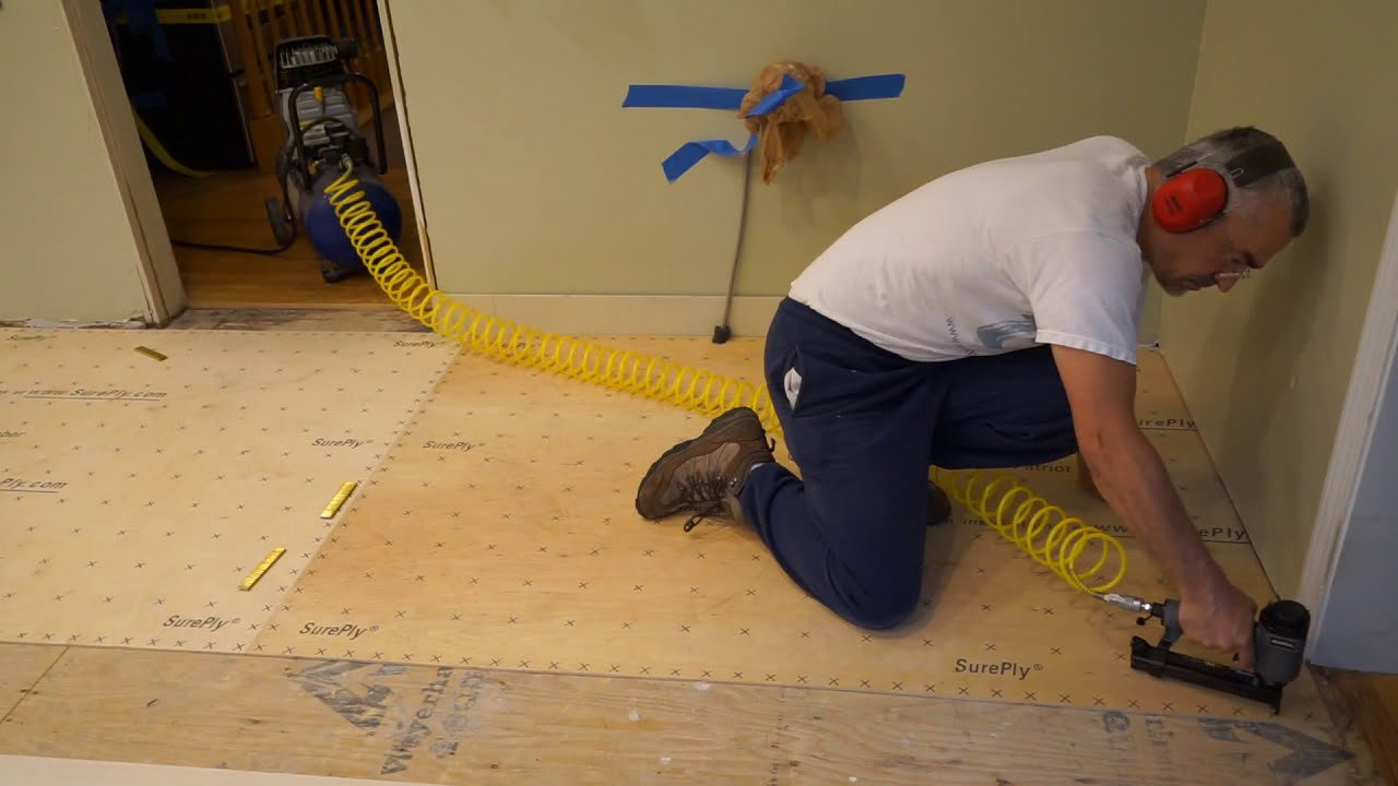 Stapling Underlayment Youtube