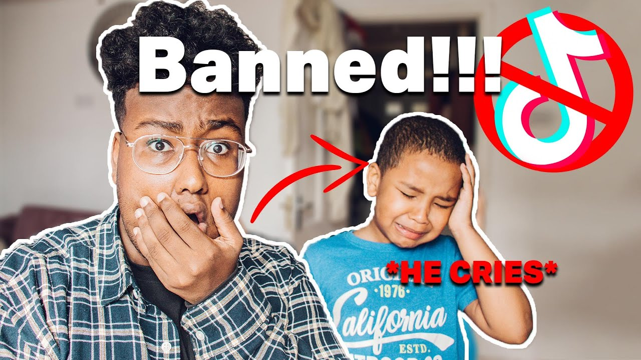 7 Year Old Reacts To Tik Tok Being Banned!! *HE CRIES*
