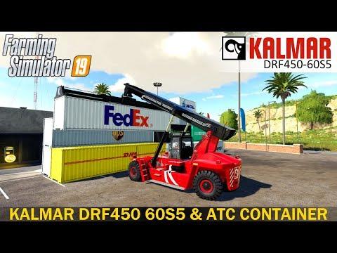 Farming Simulator 19 - KALMAR DRF450 60S5 AND ATC CONTAINER PACK