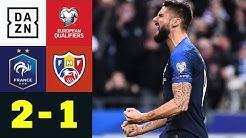 Weltmeister zittert sich zur Tabellenführung: Frankreich - Moldawien 2:1 | EM-Quali | DAZN