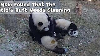 Mom Found That The Kid's Butt Needs Cleaning | iPanda