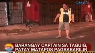 UB: Barangay captain sa Taguig, patay matapos pagbabarilin