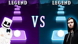 Alone  Marshmello VS Alan Walker  Faded Which is better? | Tiles Hop EDM Rush! | TRZ