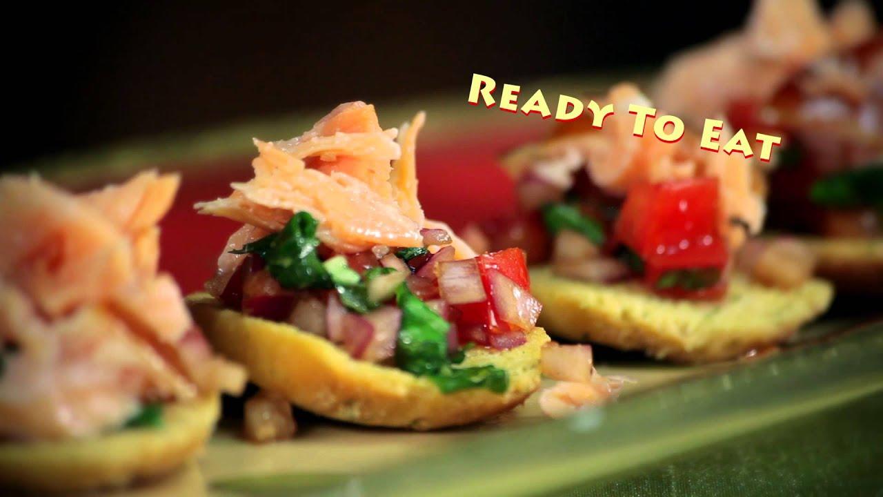 Honey smoked salmon tomato bruschetta youtube for Honey smoked fish