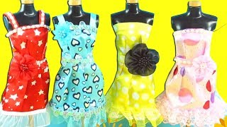 Barbie Party Dress - Barbie Dress Up Video - DIY Decorate Barbie