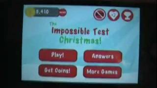 The Impossible Test Christmas Walkthrough