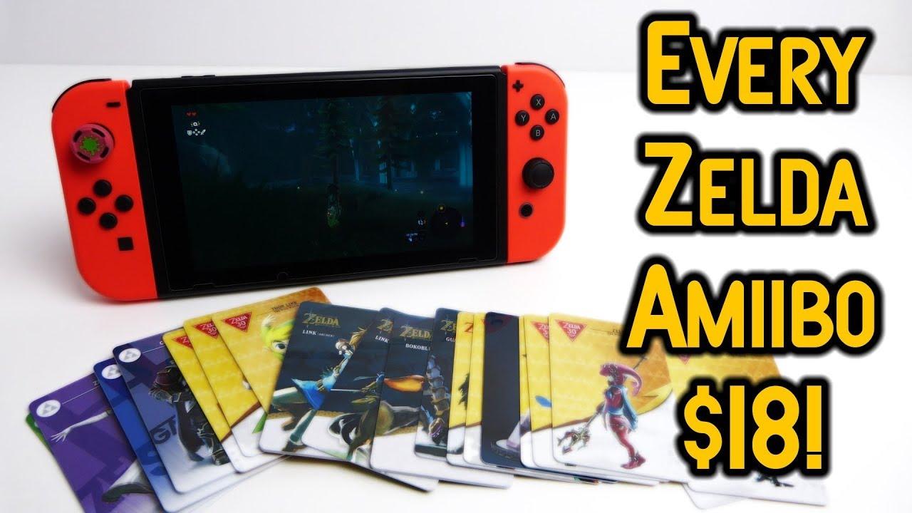 The Legend Of Zelda Amiibo Cards Set 22 18 Youtube Nintendo Switch Red Blue Bundle 2games 2amiibo
