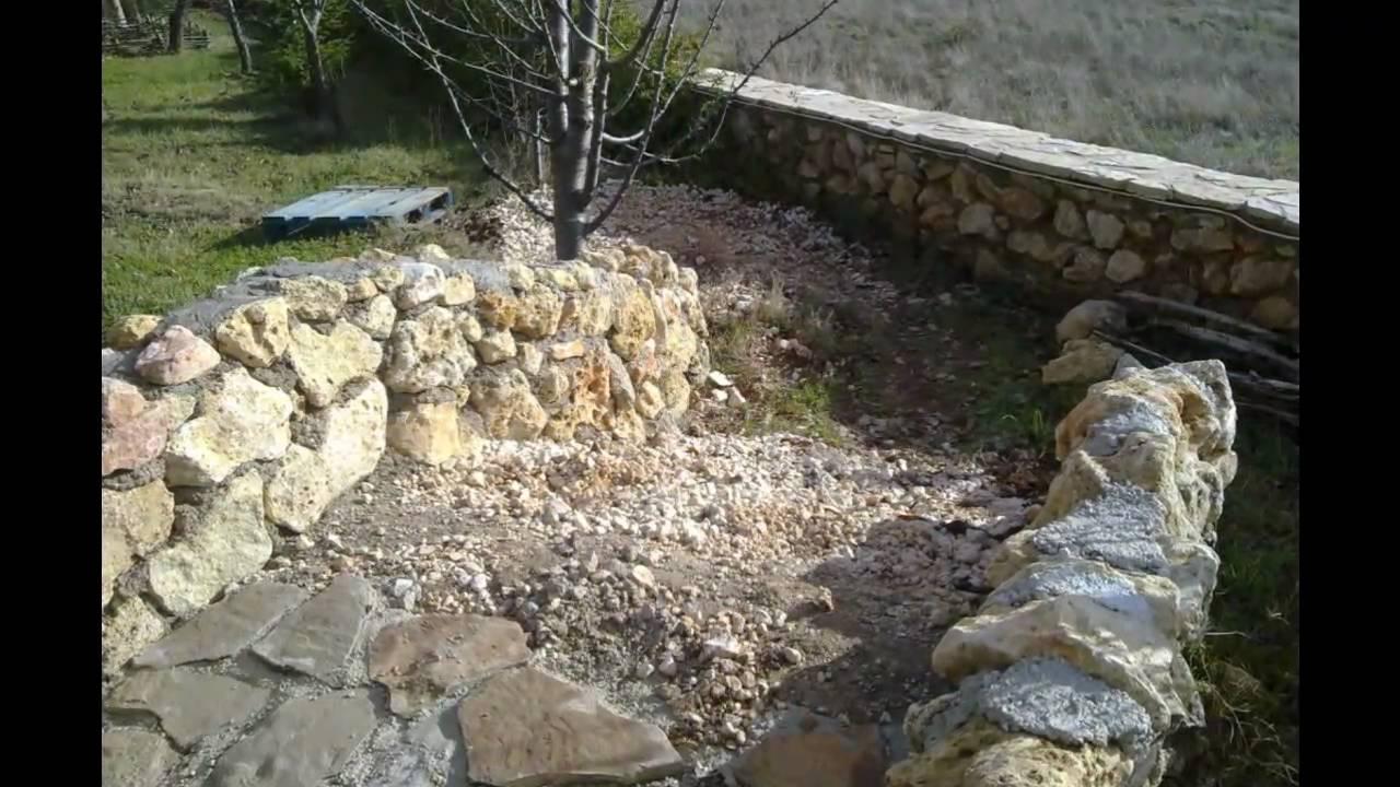 Puente de piedra de jard n garden stone bridge build for Jardines de piedra