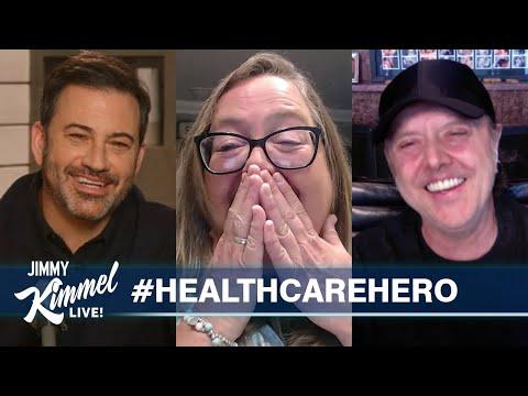 Jimmy Kimmel & Lars Ulrich Surprise Nurse/Metallica Fan - Supported by Big Lots!