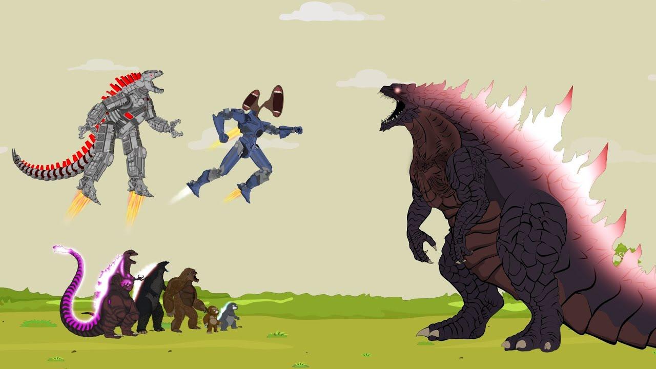 Godzilla - MechaGodzilla - MechaSirenHead vs Godzilla Ultimate Evolution