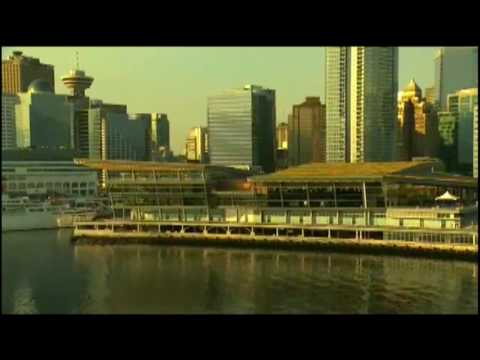 Aerial: Vancouver Convention Centre - BC, Canada