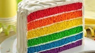 Rainbow Cake Recipe Tastyfix