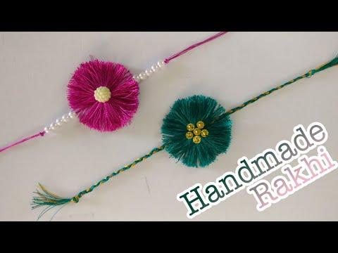 How To Make Rakhi At Home | DIY | Handmade Rakhi | Rakhi Making Ideas