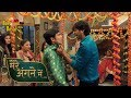 On Location Of TV Serial 'Mere Angane Mein'