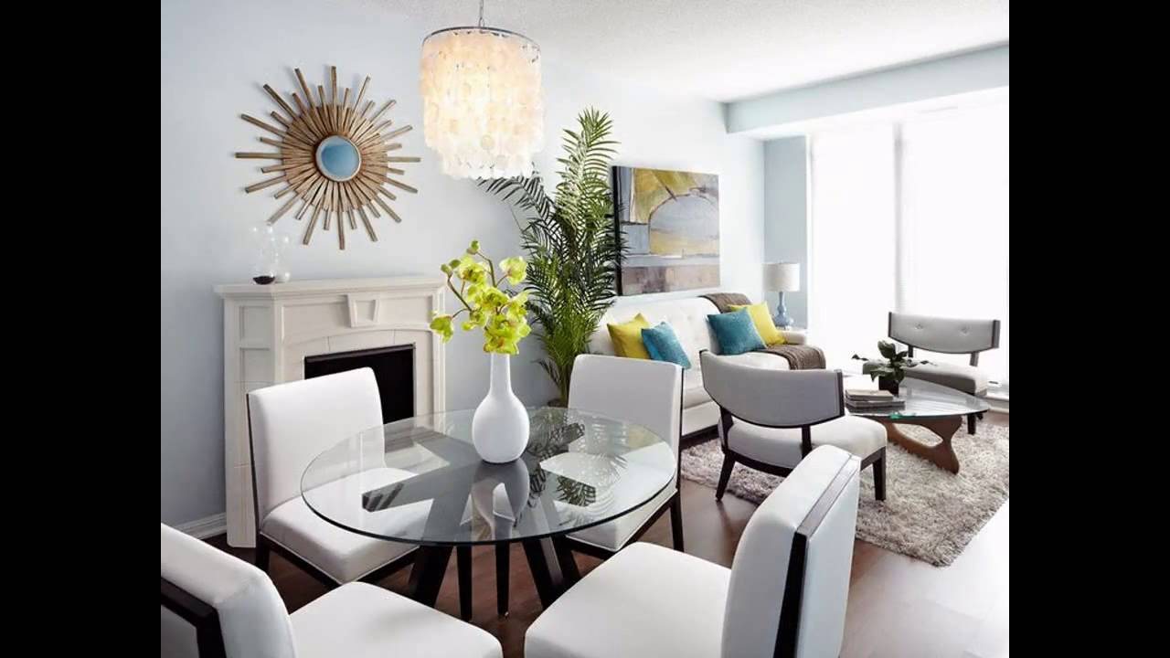 Modern Living Room Ideas For Small Condo YouTube - Living dining room ideas