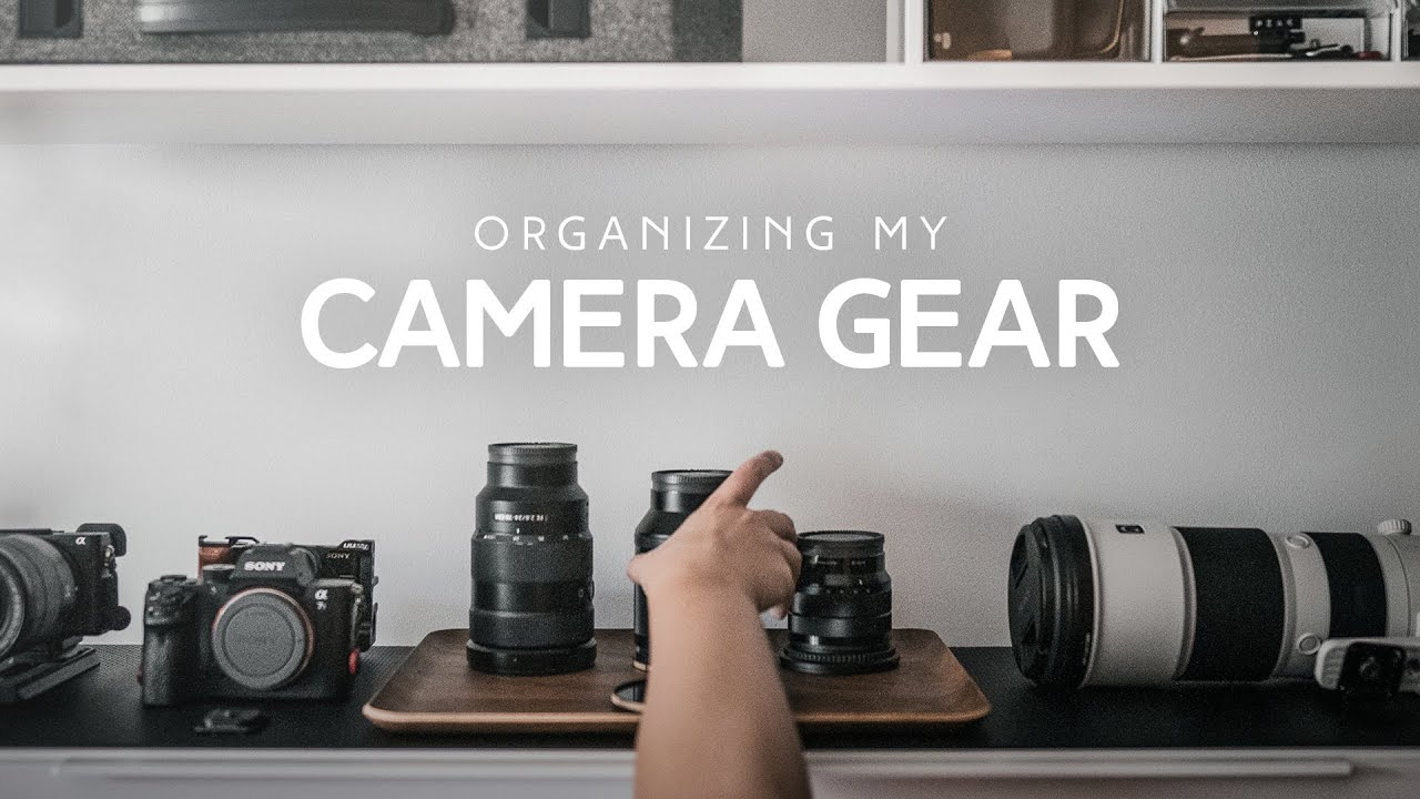 Silently Organizing My Camera Gear In A Thunderstorm | Relaxing