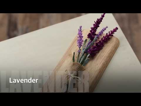 "SUPER EASY! How to make Crepe paper Flower ""Lavender"""