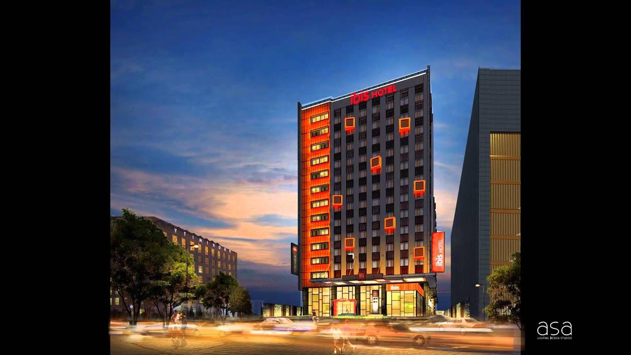 Ibis Hotel Facade Lighting Clip
