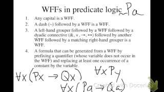WFFs in predicate logic