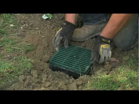Low Spot Drain Installation from Advanced Drainage Systems
