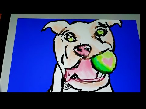 how-to-draw-a-cute-dog- -pitbull