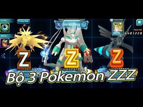Pokemon:Bộ 3 Tam Thần Z-Z-Z Pokémon Zygarde And Zapdos Và Zekrom