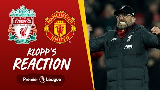 Klopp's Reaction: 'Alisson Becker, what an assist!' | Liverpool vs Man Utd