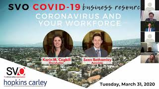 SVO COVID-19 BUSINESS RESOURCES: Coronavirus and Your Workforce ft. Hopkins and Carley