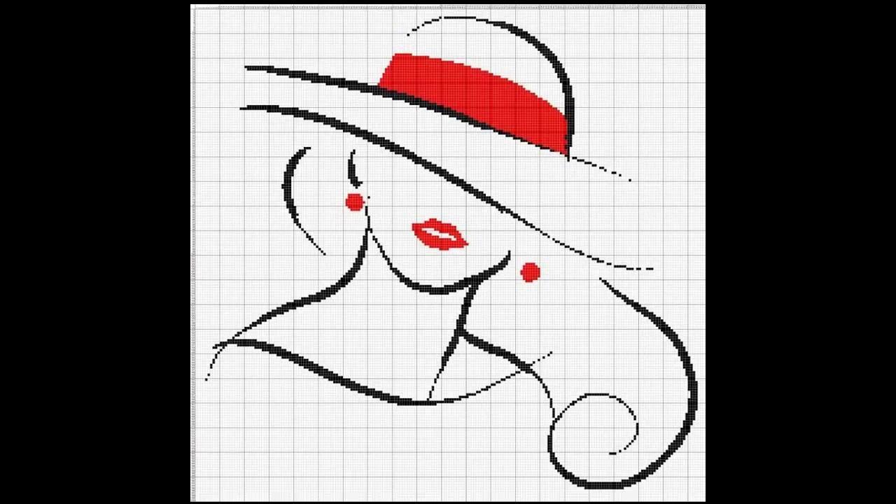 Patrones para punto de cruz especial Sombreros I | Aprende a hacer ...