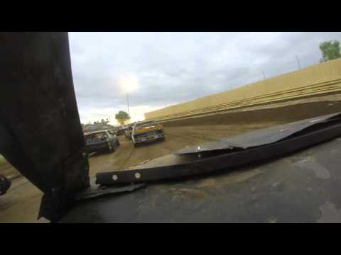 Dirt mini stock heat race at creek county Speedway