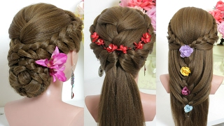 3 easy hairstyles for long hair tutorial