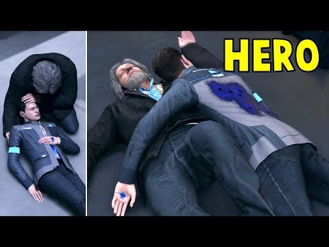 Connor Saves Hank vs Connor Left for Death - Detroit Become Human HD PS4 Pro Mp3