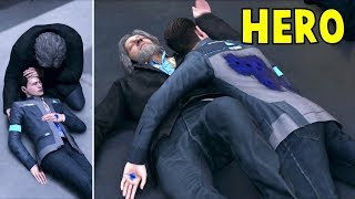 Connor Saves Hank vs Connor Left for Death - Detroit Become Human HD PS4 Pro
