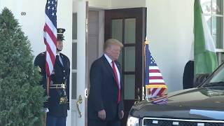 President Trump Greets Nigeria's President Muhammadu Buhari