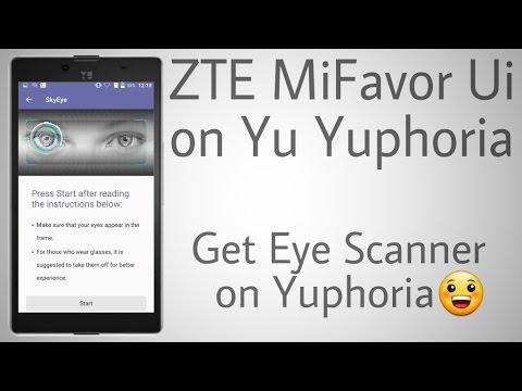 ZTE Mifavor Ui 3.2.0 on Yu Yuphoria