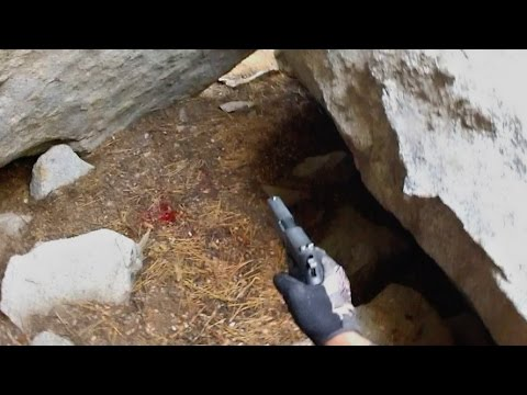 Tracking a Wounded Bear Into a Cave [Bear Hunting]