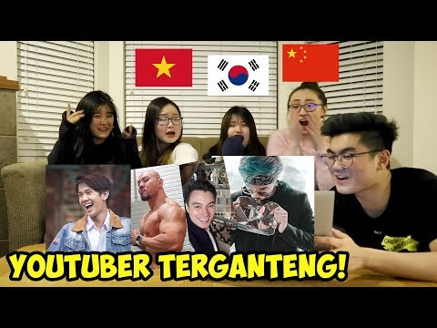 REAKSI CEWEK CANTIK LUAR NEGERI LIAT YOUTUBER & AKTOR INDONESIA! (ATTA HALILINTAR, BAIM WONG, DLL)