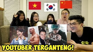 REAKSI CEWEK CANTIK LUAR NEGERI LIAT YOUTUBER & AKTOR INDONESIA! (ATTA HALILINTAR, BAIM WONG, DLL) MP3