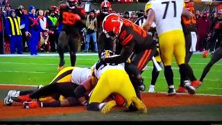 Myles Garrett hits Mason Rudolph with helmet! Browns vs Steelers. Full video