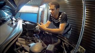 Чистка компонентов двигателя 1MZ, страдающих от маслянного нагара