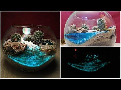 DIY Star Lights in your Terrarium water / Glow in the dark