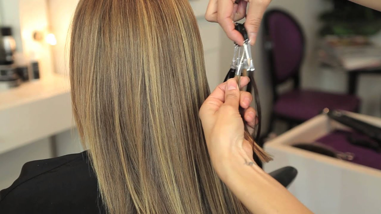 How To Color Match Extensions Hair Extensions Youtube