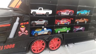 Toy Cars by Truck Hot Wheels Cars unboxing Video for Kids