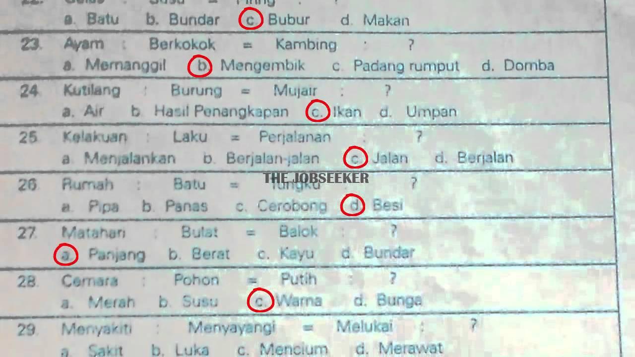 Download Soal Psikotest Dan Jawaban Pdf Download