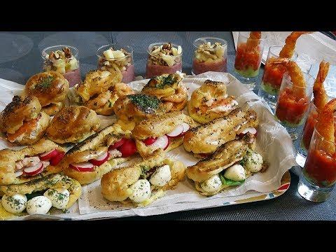 aperiti-festif-pour-les-fêtes-mini-éclairs,-choux-salés-et-verrines