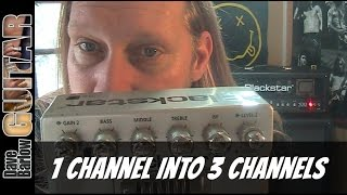 Blackstar HT Dual Pedal - Turn your one channel amp into 3 channels