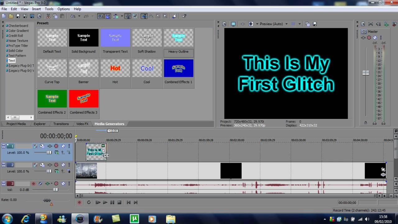 How To Put Text Over Your Video In Sony Vegas Pro 9 201611