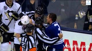 Dion Phaneuf big hit on Patric Hornqvist then Malkin jumps on Phaneuf Nov 14 , 2014