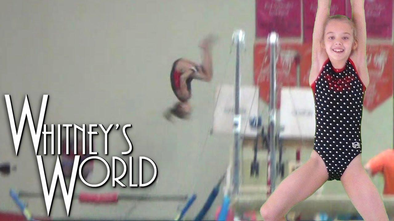 Double Back Dismounts off Bars | Whitney - YouTube